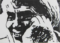 Constance Forsyth, 2010; Woodcut; Image: 5 x 7 inches