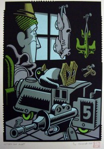 After the Hunt, 2009; Screen print; Image: 315x218 mm