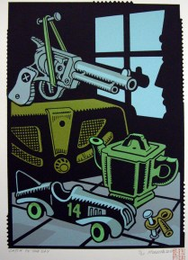 Catch of the Day, 2010; Screen print; Image: 316x220 mm