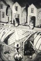 Night Watchman (state one) 1996; Drypoint; Image:335mm x 223mm