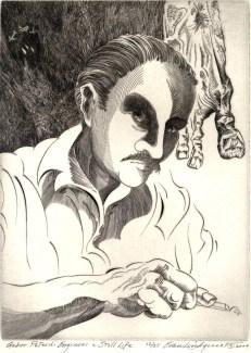 Gabor Peterdi Engraves a Still Life, 2009; Engraving; Image: 451 mm x 591 mm