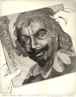 Claude Mellan Engraves a Self Portrait, 2008; Engraving; Image: 451 mm x 591 mm