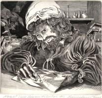 Albrecht Durer Engraves His Initials, 2008; Engraving; Image: 451 mm x 591 mm