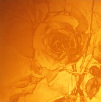 Matrix for Détente/One, 2003; Photopolymer plate; 174 mm x 174 mm