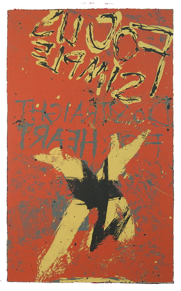 Untitled, 2009; Screenprint; Image: 661 x 403 mm
