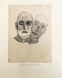 Axel, 2010; Intaglio, chine colle; Image: 508 x 380 Axel imagined that in a previous life he was a prosecutor, or maybe a judge. 