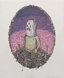 "Nathan Pietrykowski; Pile Panic, 2014; Lithograph; Paper size: 348 x 279 mm; from, ""Trash: A Printmaking Portfolio Exchange"""