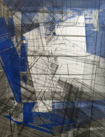 Architectural Possibles (Folding no. 2), 2015; Intaglio, etching, drypoint, engraving; Object size: 708 x 596 mm