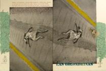 Collaboration with Douglas Kent Hall; Las Golondrinas, 1991; Lithograph, chine collé; Image size: 772 x 1121 mm
