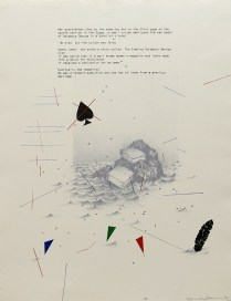 Debris from the Text--G, 1981; Lithograph; Image size: 762 x 598 mm