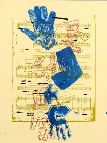 Ghost Arm, 2006; Lithograph, etching; Image size: 710 x 432 mm