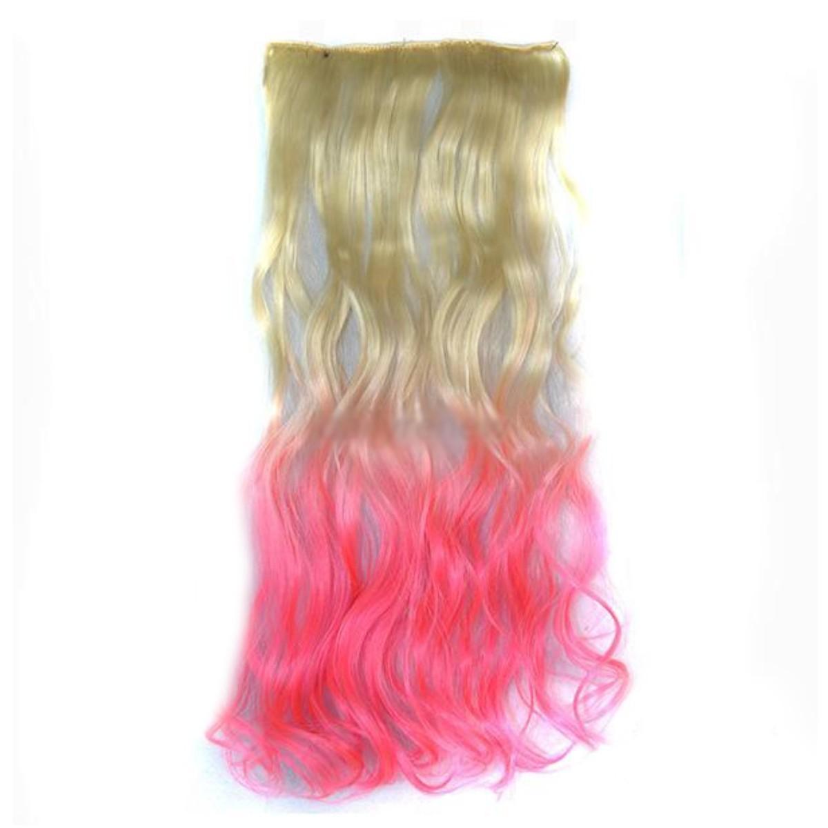 Cortina de cabello Ondulada Californianas Rubio Rosado