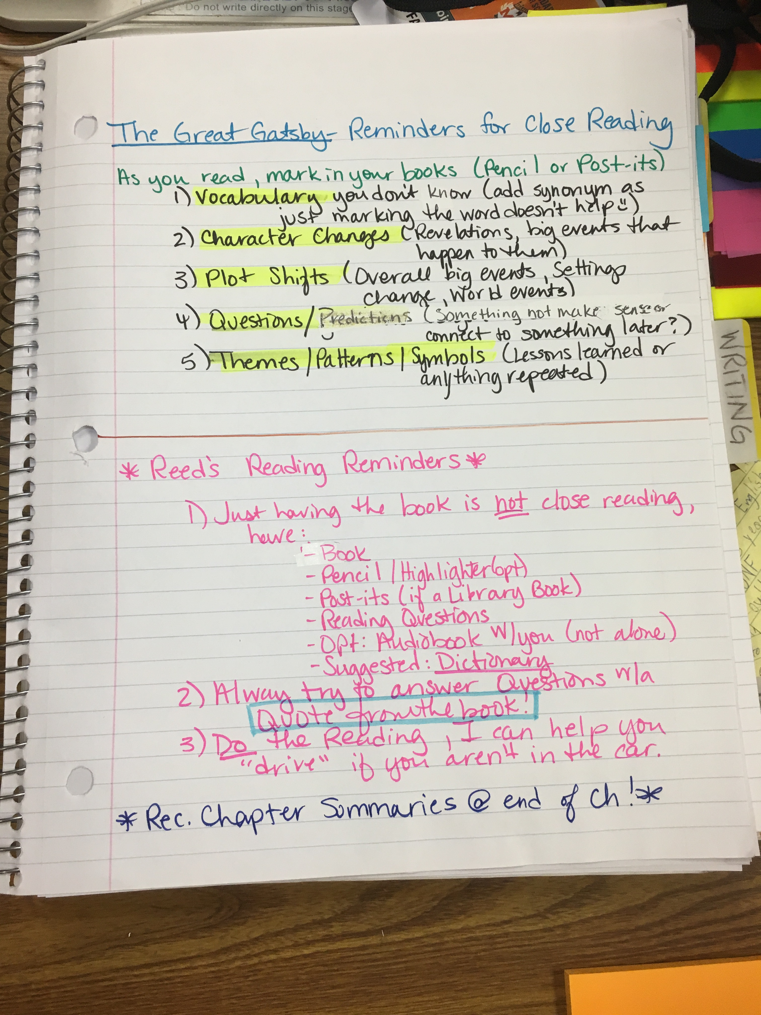 Day 65 Sat Essays Amp Gatsby Ch 1 Mrs Reed S Literature