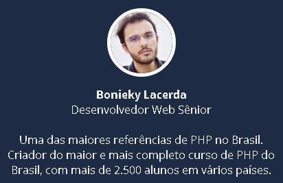 Bonieky Lacerda curso de php