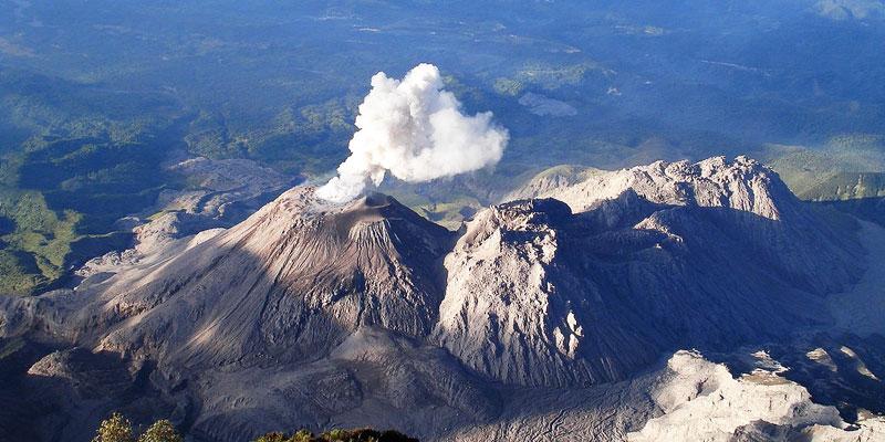 Volcn Santa Mara y Santiaguito Quetzaltenango  Aprende