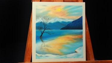 17- paisaje invernal al oleo