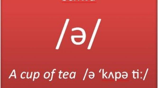 Pronunciación en inglés: la vocal neutra schwa /ə/