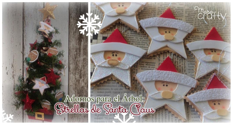 Taller de Adornos para el rbol Estrellas de Santa Claus