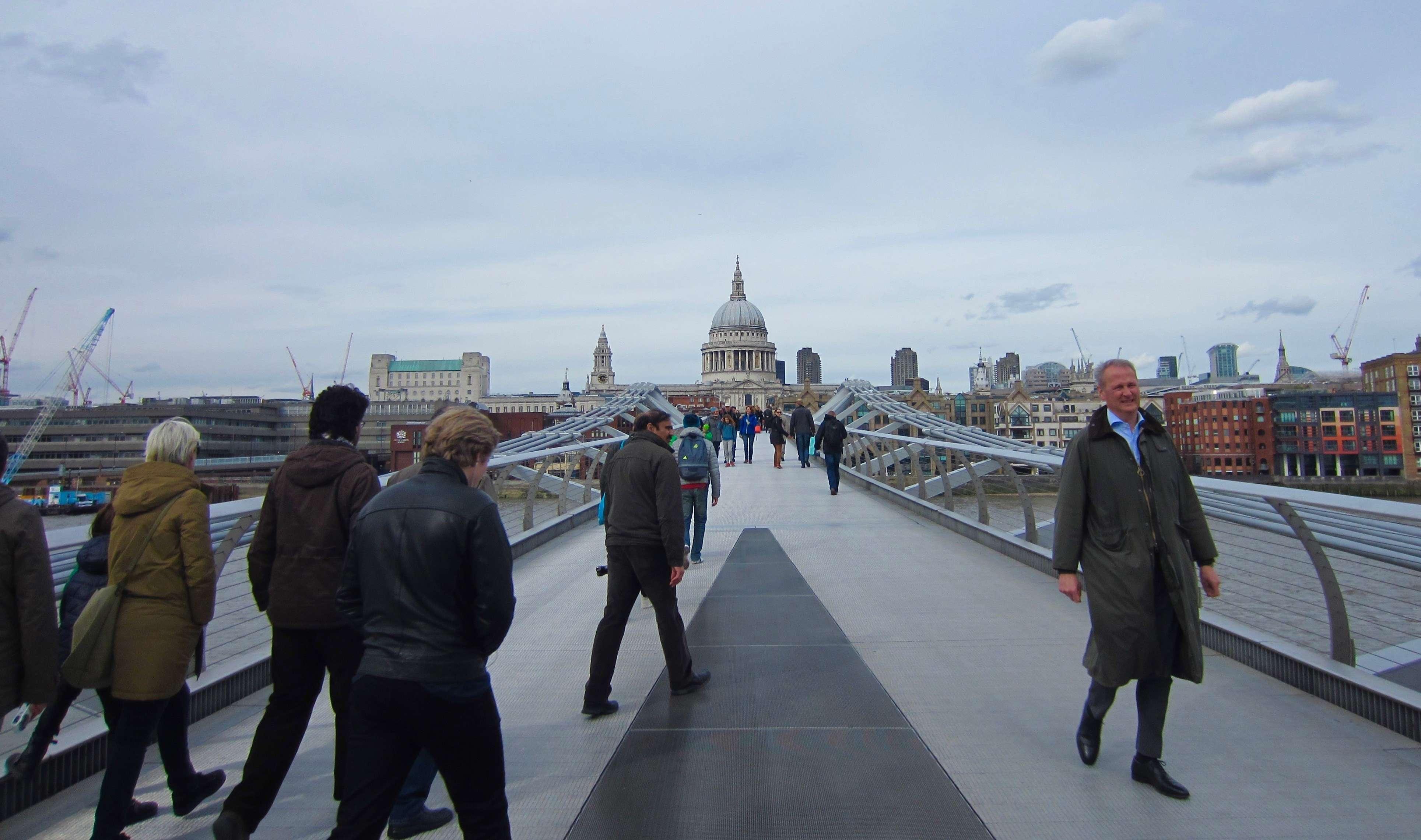 The City of London, and Millenium Bridge.