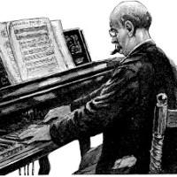 Partitura : Imagine, acompañamiento piano. Notas flauta.