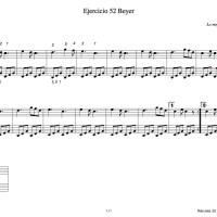 Estudio Beyer 52.  Compás 6/8
