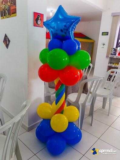 Coluna de balões - Balões nº9, 260 e balão em formato de estrela.