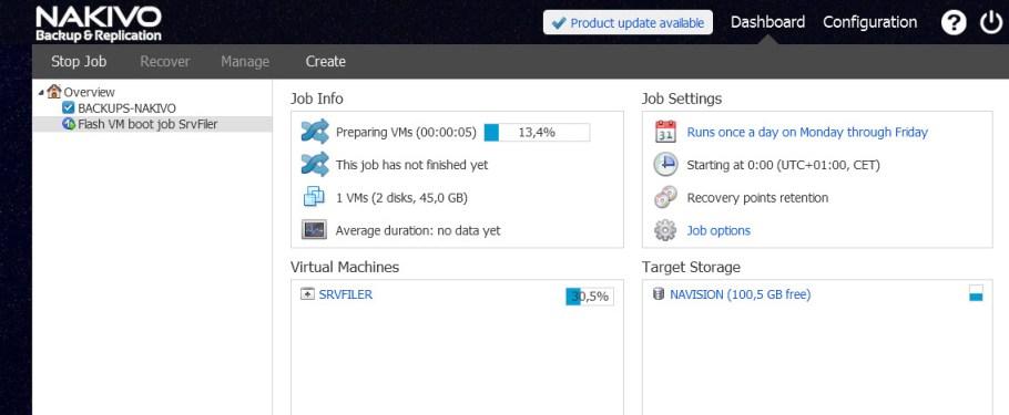 Flash VM boot job running