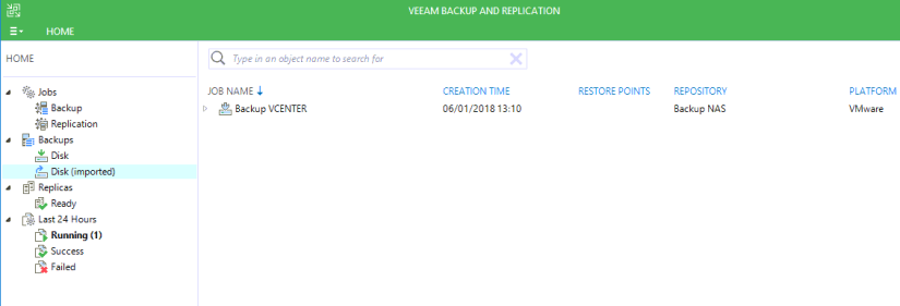 Veeam Disk imported