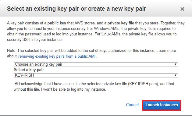 Montar automáticamente Sistema de archivos EFS key pair