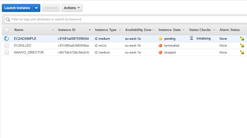 Simple Active Directory ec2 initializing