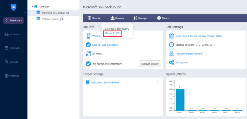 Sharepoint online backup recovery