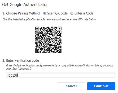 autenticación de doble factor codigo qr