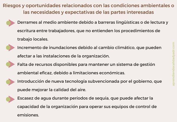 ISO 14001 Capítulo 6