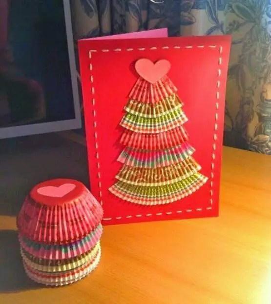 Manualidades navide as tarjetas para felicitar la navidad - Hacer una postal de navidad ...