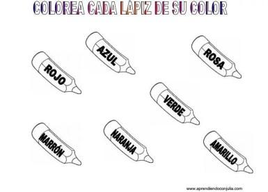 ficha para aprender a leer los colores