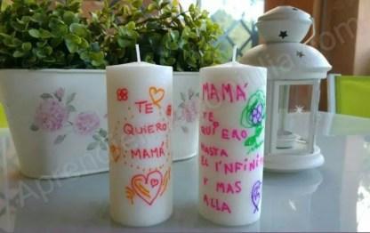 Cómo decorar velas con transfer: Manualidades para niños