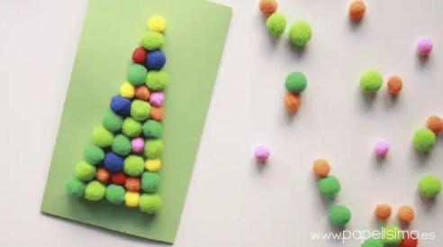 tarjetas-de-navidad-hechas-a-mano-originales-arbol-de-pompones
