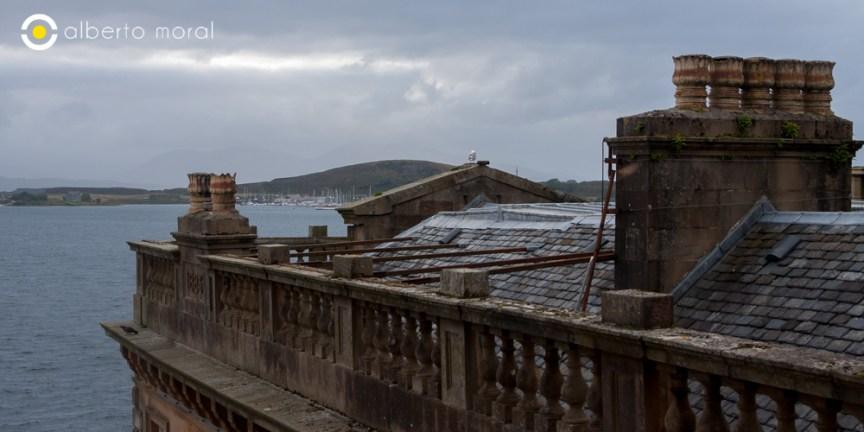 Escocia - Tejado en Oban