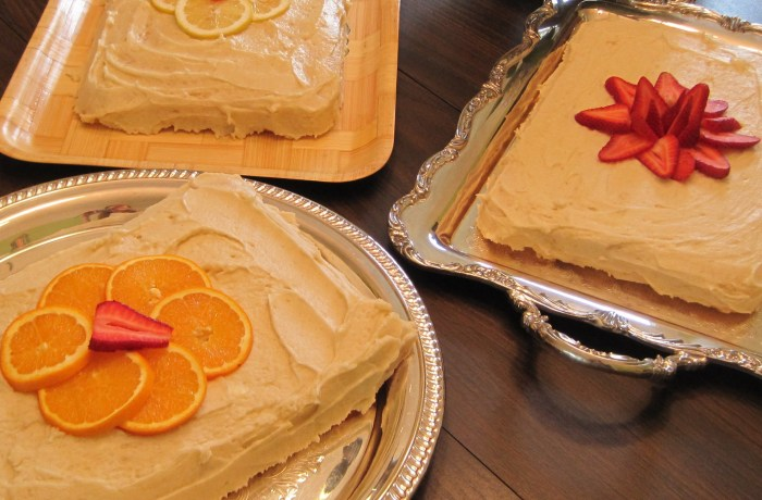Cake trio on Maybrooks
