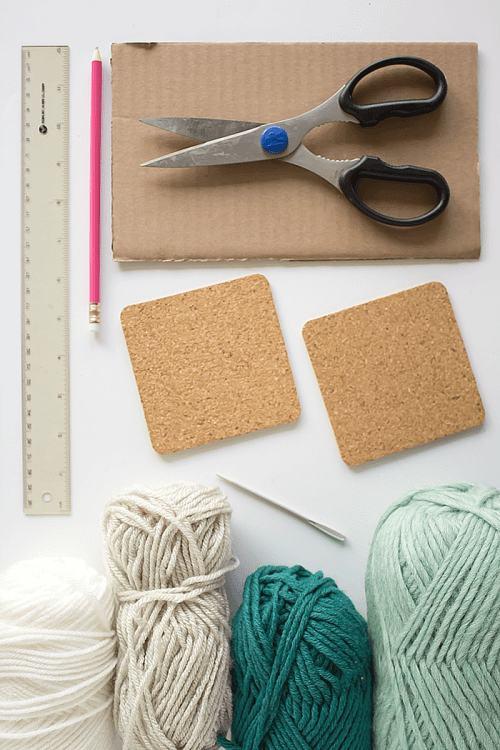 Woven Coaster Craft - Materials