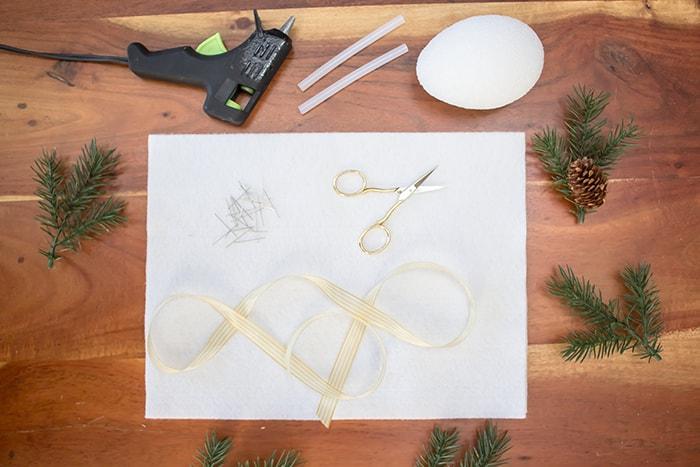 DIY Felt Pinecone Ornament - Materials Needed