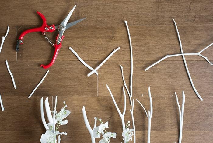 DIY Scandi-Inspired Blossom Branch - Clip Ends