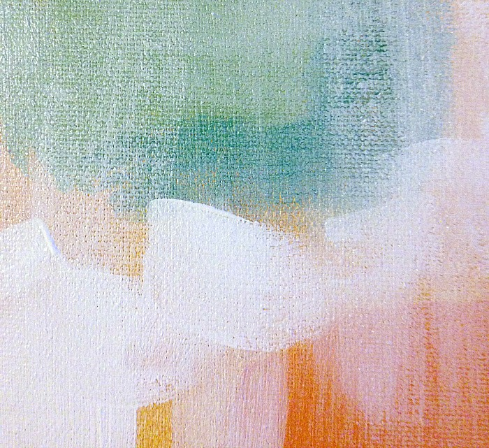 How to create whitewash abstract art - whitewash up close