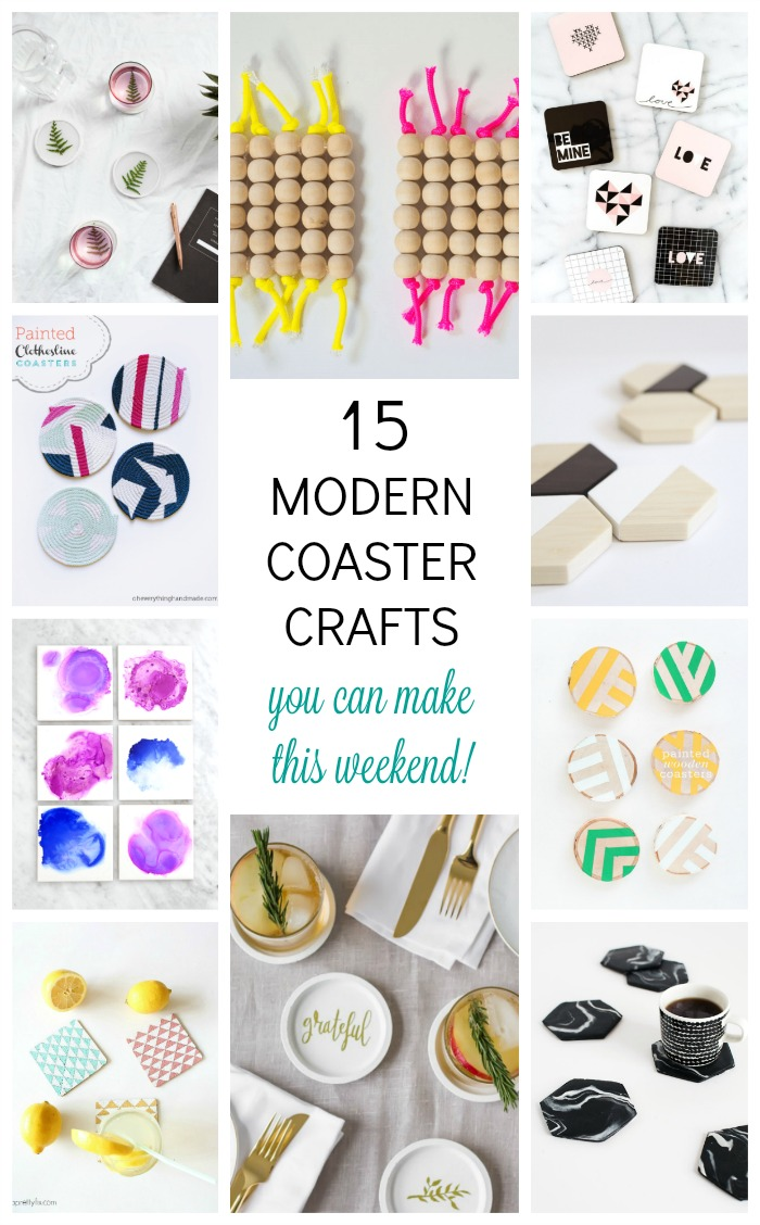 These 15 modern coaster crafts are a beautiful way to add interest and style to any space, indoors or out. When it comes to decorating your home, it's all in the details!