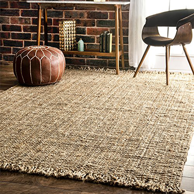 chunky jute rug for under $40