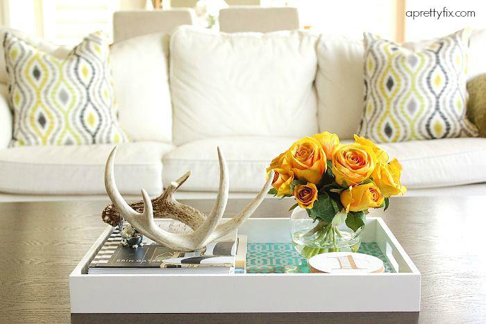 Coffee Table Decorating, 5 Ways - aprettyfix.com