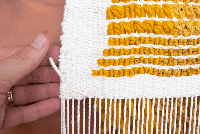 weaving tutorial - hem stitch