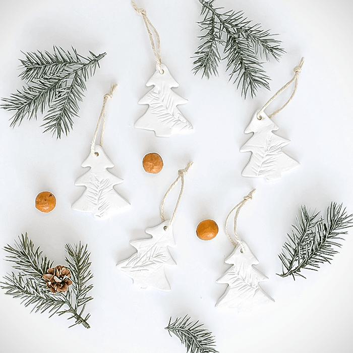 Air Dry Clay Christmas Ornaments 5 Different Ways (& A