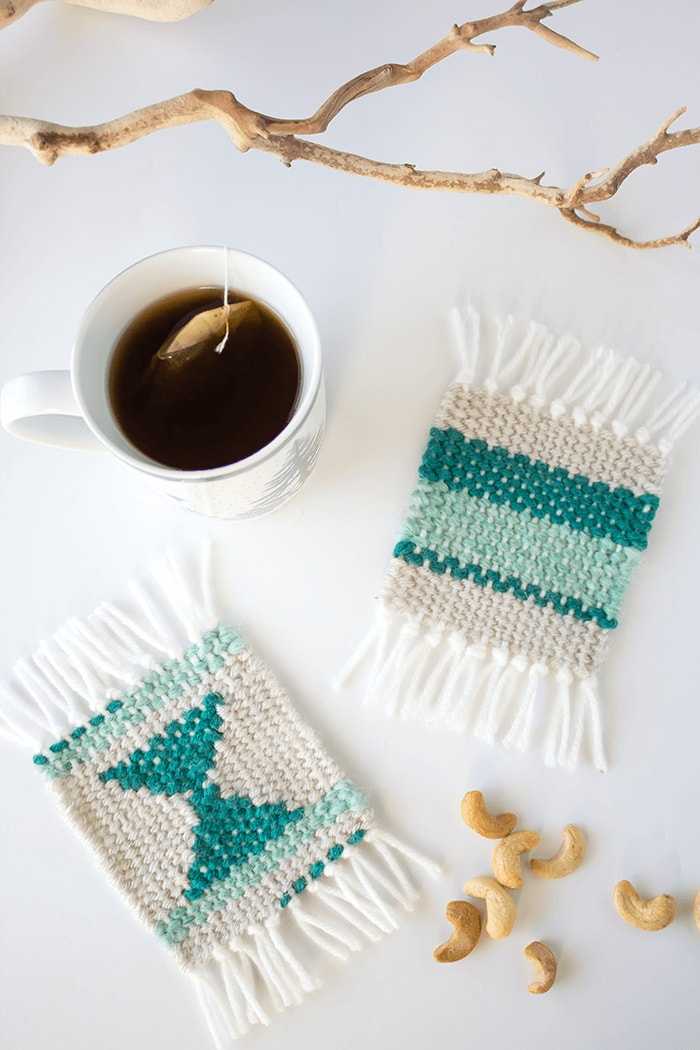 DIY Woven Coasters A Pretty Fix - Create coasters from photos