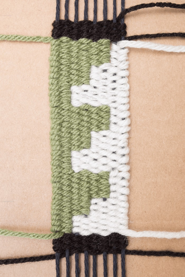 A woven bookmark tutorial using square designs and patterns.